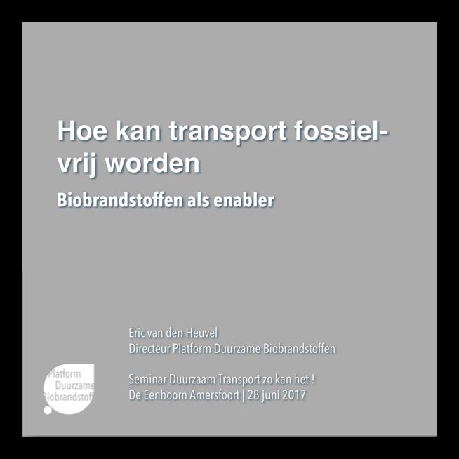 Hoe kan transport fossiel-vrij worden – biobrandstoffen als enabler