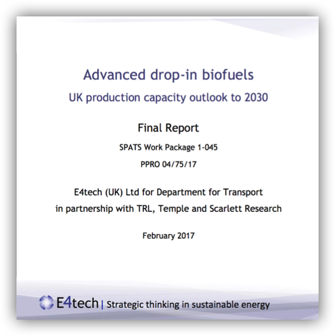 Advanced drop-in biofuels UK production capacity outlook to 2030