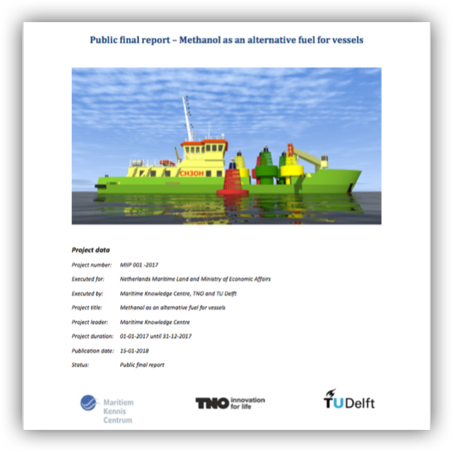 Maritiem Kennis Centrum, TNO, TU Delft – Methanol as an alternative fuel for vessels