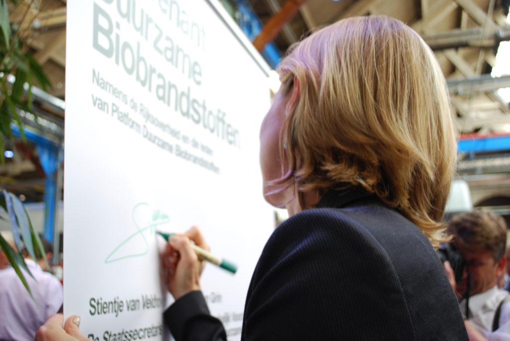 Ondertekening Convenant Duurzame Biobrandstoffen