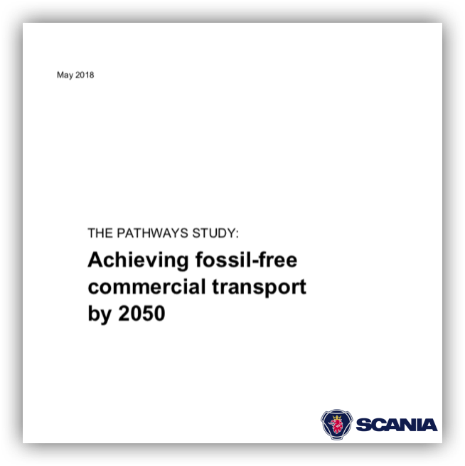 Scania – Commercial transport can be fossil-free by 2050