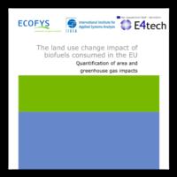 Ecofys IIASA E4tech Globiom Study