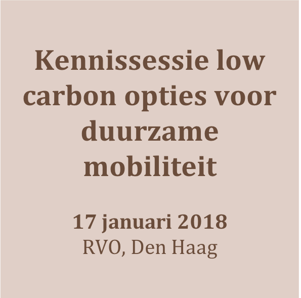 180117_Kennissessie over low carbon opties voor duurzame mobiliteit