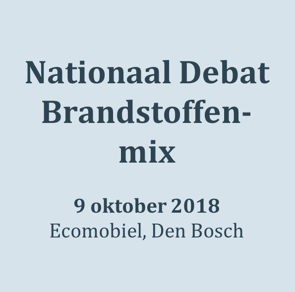 181009_Nationaal Debat Brandstoffenmix