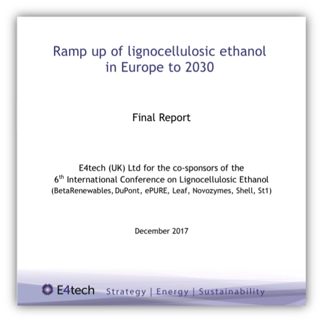 Ramp up of lignocellulosic ethanol in Europe to 2030