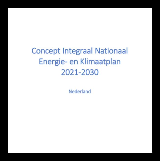 concept Integraal National Energie- en Klimaatplan 2021-2030