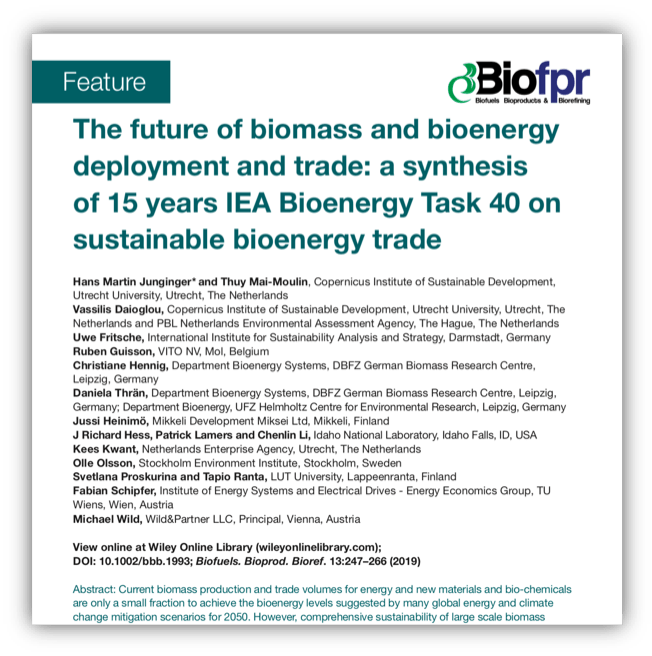 The future of biomass and bioenergy deployment and trade