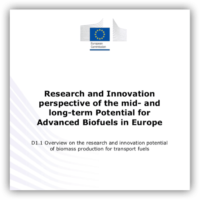 Potential advanced biofuels in Europe – focus on biomass production