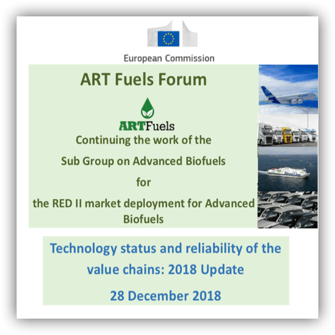 2018 Update – Technology status advanced and renewable biofuels value chains