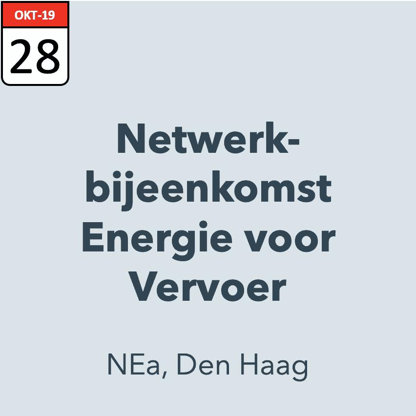 Netwerkbijeenkomst Energie voor Vervoer