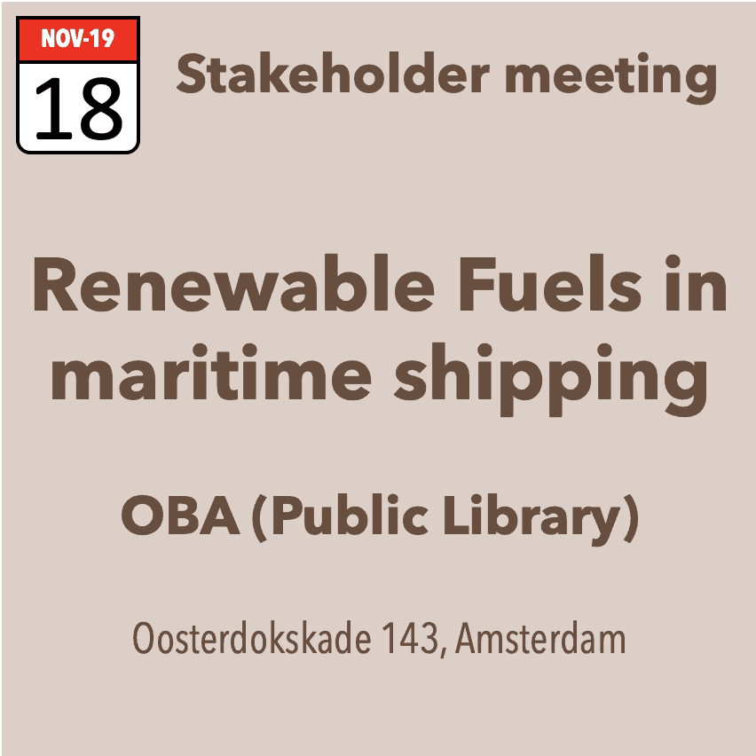 Stakeholder meeting on renewable fuels in maritime shipping