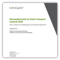 Renewable fuels for Dutch transport towards 2030