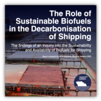 The Role of Sustainable Biofuels in the Decarbonization of Shipping