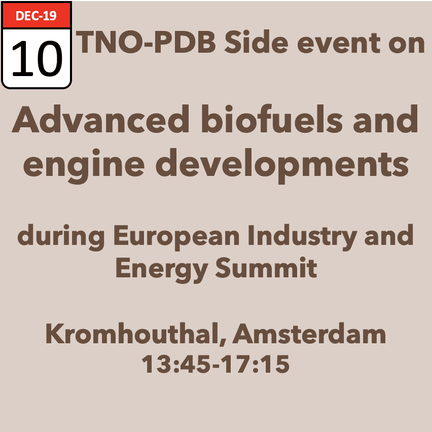 TNO-PDB Side event Advanced Biofuels
