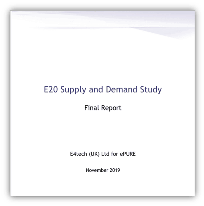 E4tech – E20 Supply and Demand Study