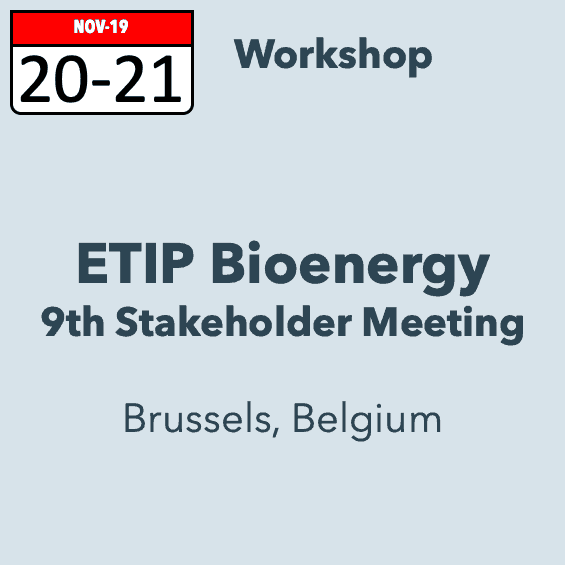 ETIP Bioenergy 9th Stakeholder meeting