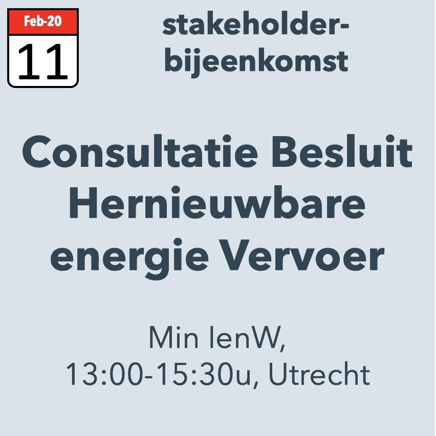 Consultatie Besluit Hernieuwbare Energie Vervoer