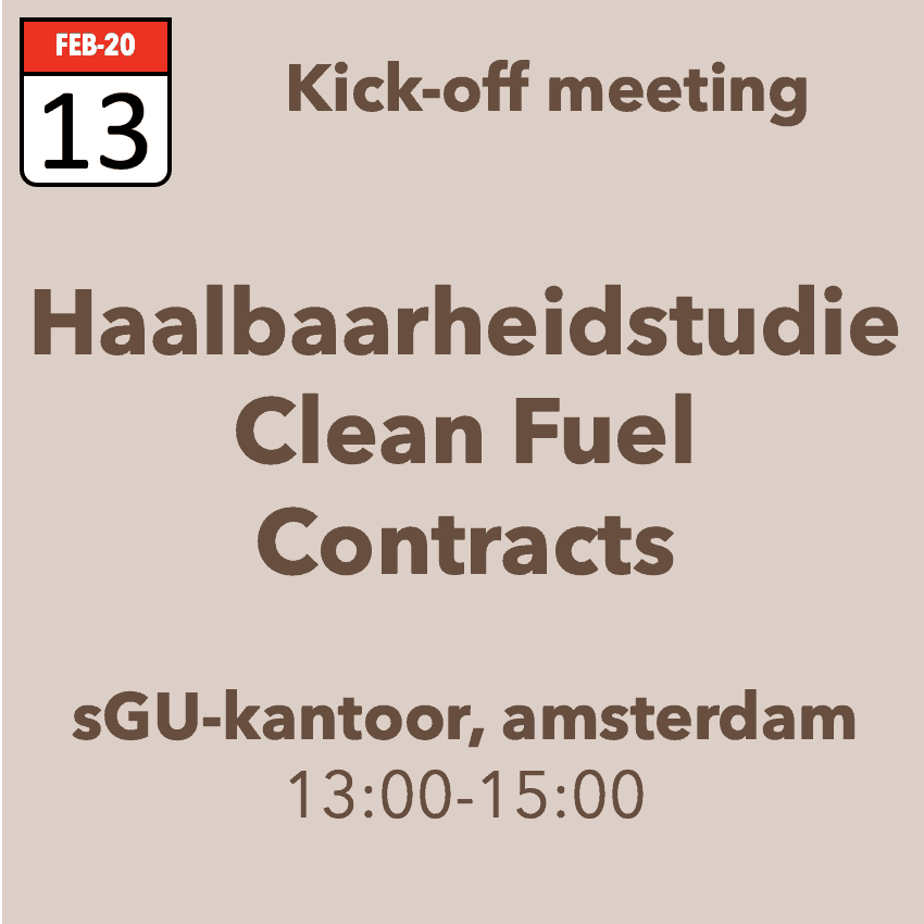 kick-off Clean Fuel Contracts