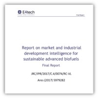Report on market and industrial development intelligence for sustainable advanced biofuels