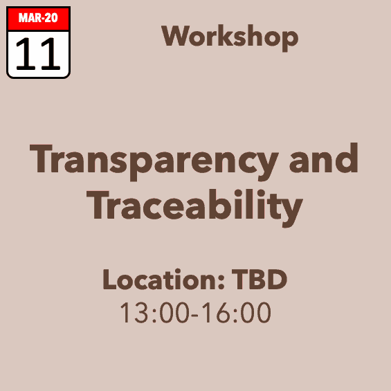 Transparency and Traceability Workshop