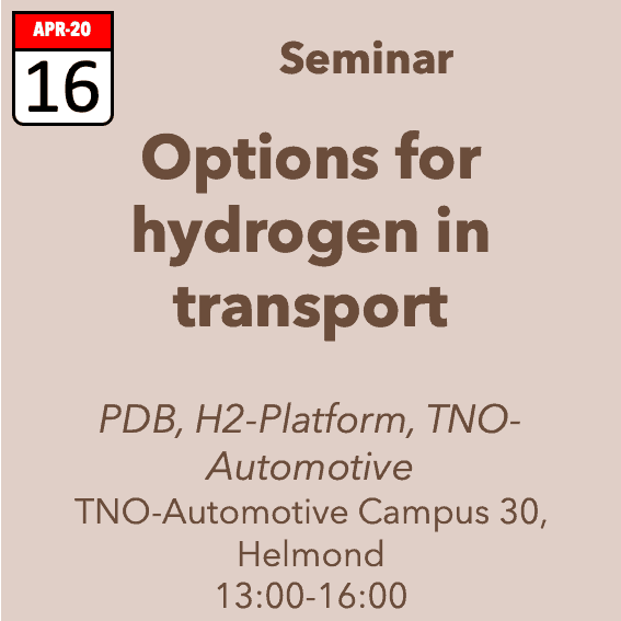 Online Seminar Options for Hydrogen in Transport