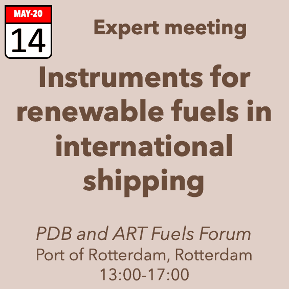 Expert meeting – Instruments for renewable fuels in international shipping