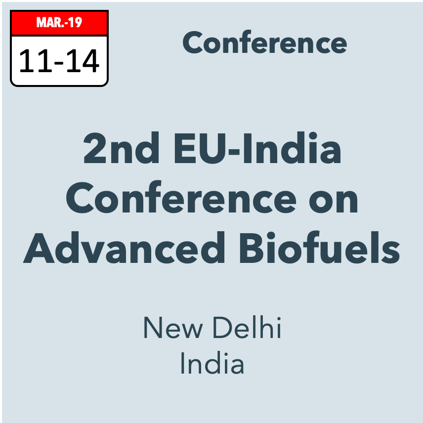 2nd EU-India Conference on Advance Biofuels