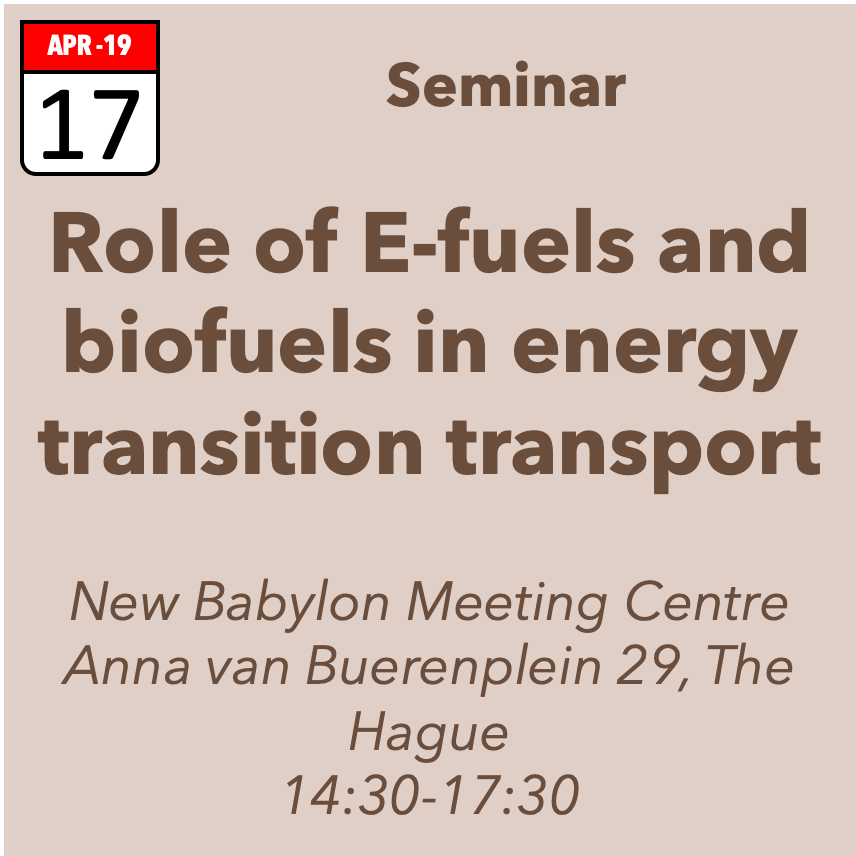 Seminar role and significance of e-fuels in energy transition transport