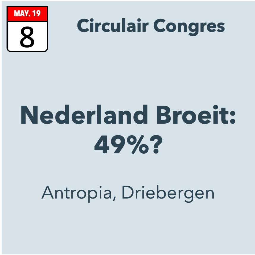 Nederland Broeit: 49%? Circulair Congres
