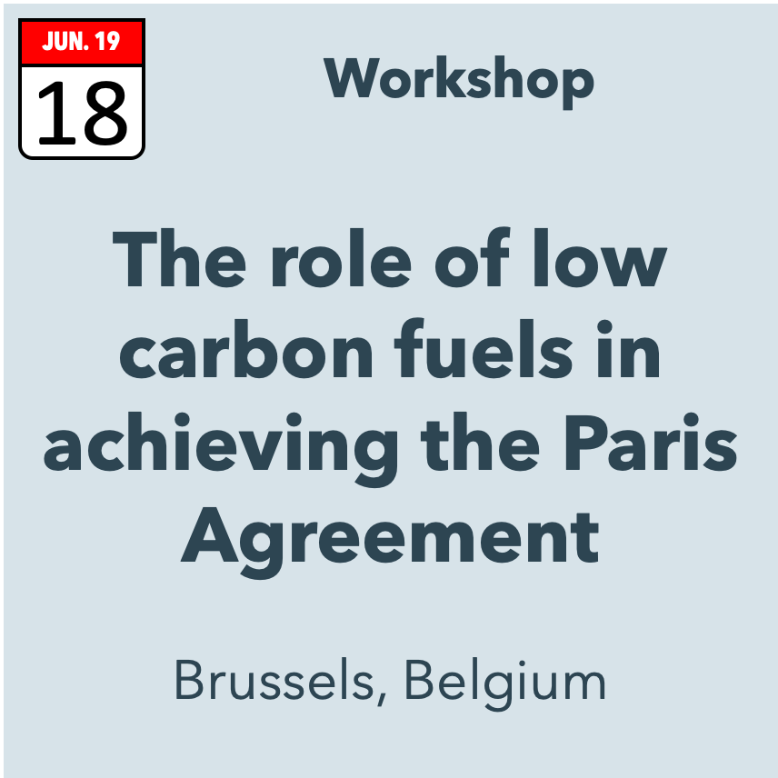 The role of low carbon fuels in achieving the Paris Agreement
