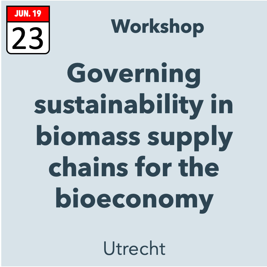 Governing sustainability in biomass supply chains for the bioeconomy