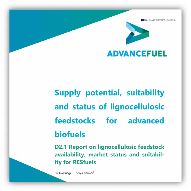 Supply potential, suitability and status of lignocellulosic feedstocks for advanced biofuels