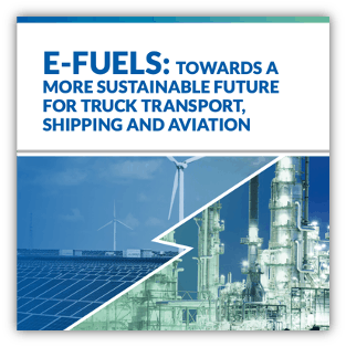 E-fuels- towards a more sustainable future for truck transport, shipping and aviation