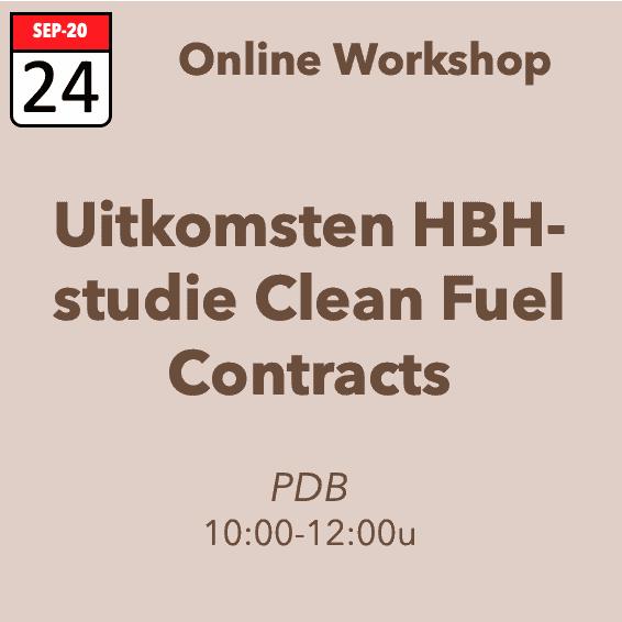 Workshop Uitkomsten HBH-studie Clean Fuel Contracts