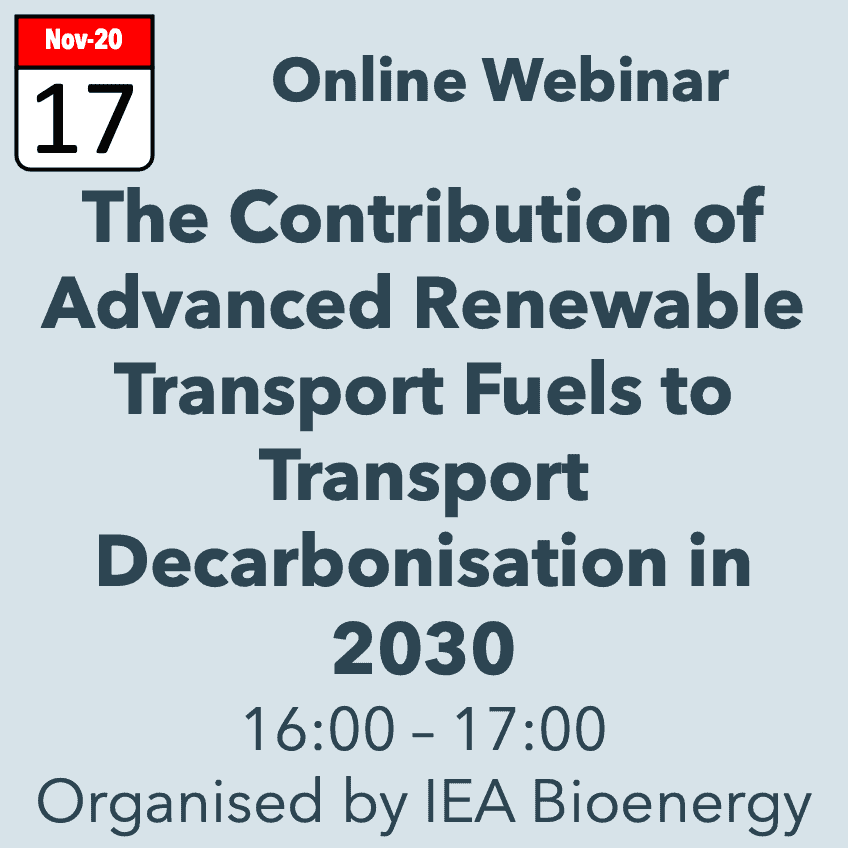 IEA Bioenergy Webinar 20nov17