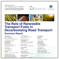 The role of renewable transport fuels in decarbonizing road transport