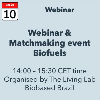 Webinar & Matchmaking event Biofuels