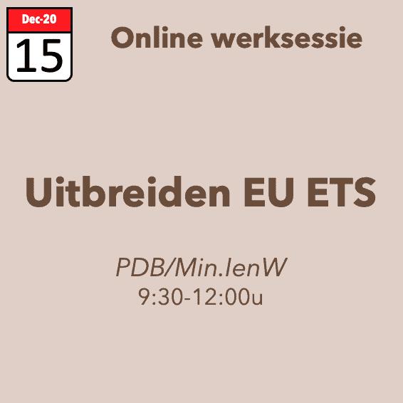 Werksessie uitbreiden EU ETS