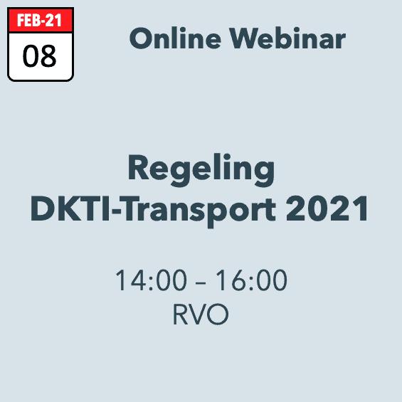 Webinar Regeling DKT-Transport 2021