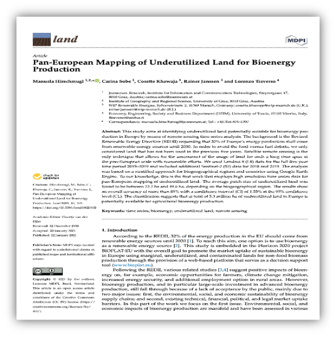 Potential of Underutilized Land for Bioenergy Production