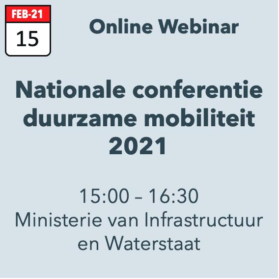 Nationale conferentie duurzame mobiliteit 2021
