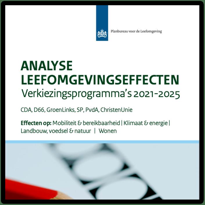Analyse leefomgevingseffecten: Verkiezingsprogramma's 2021-2025