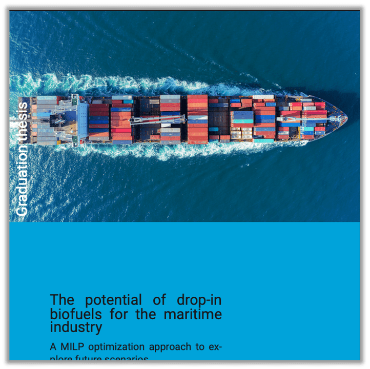 The potential of drop-in biofuels for the maritime industry