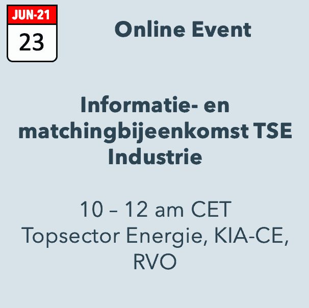Informatie- en matchmakingbijeenkomst TSE Industrie