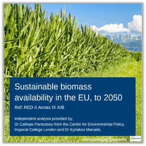 Sustainable biomass availability in the EU, to 2050